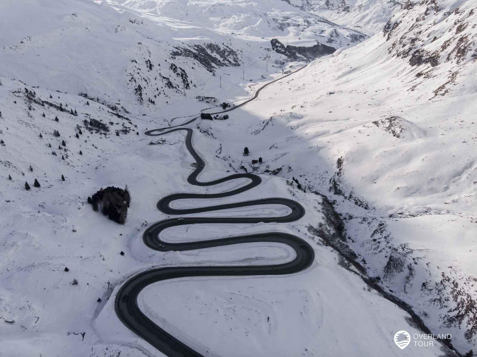 Der Julier Pass in Graubünden