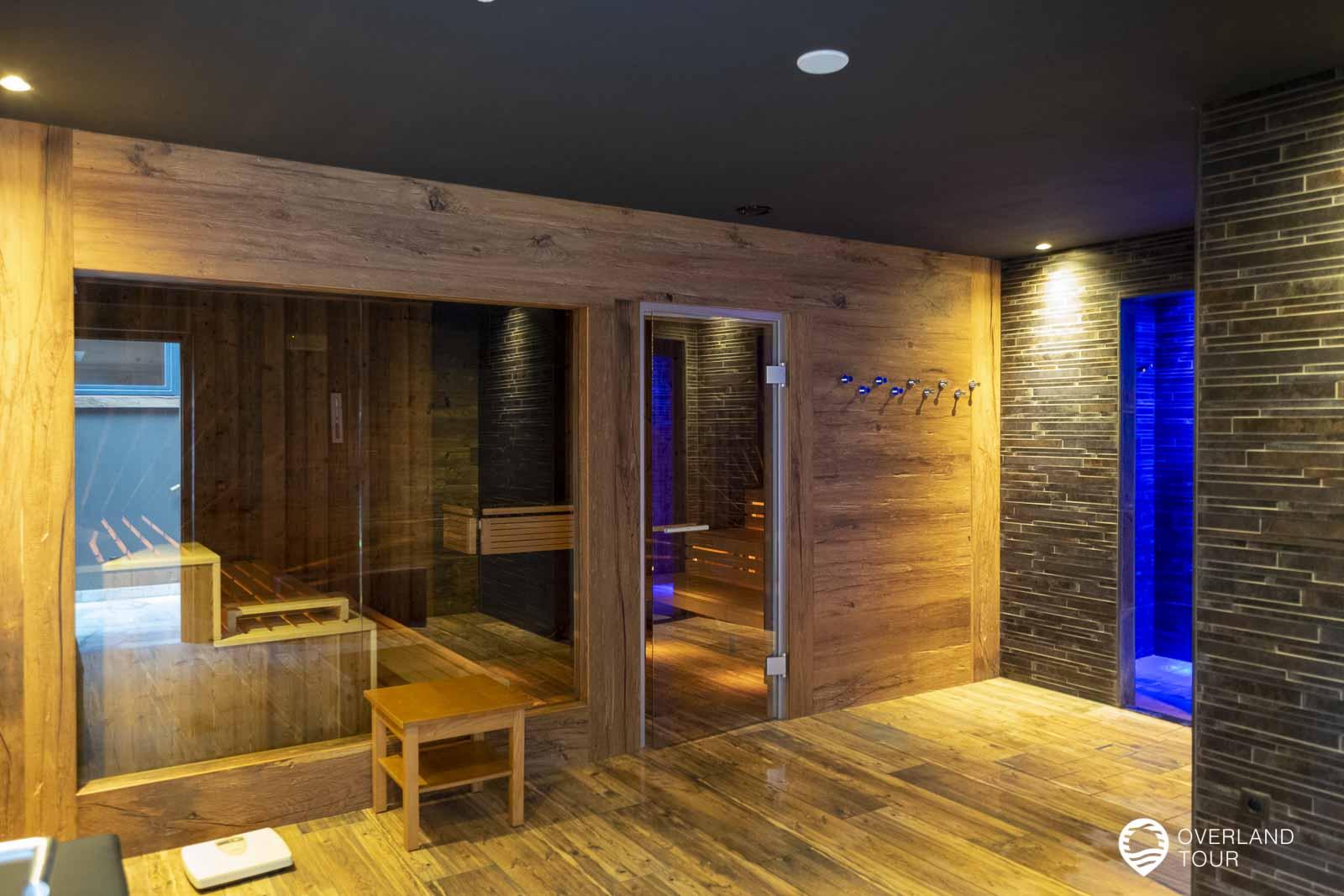 Der Sauna und Spa-Bereich war sehr angenehm nach der Wanderung