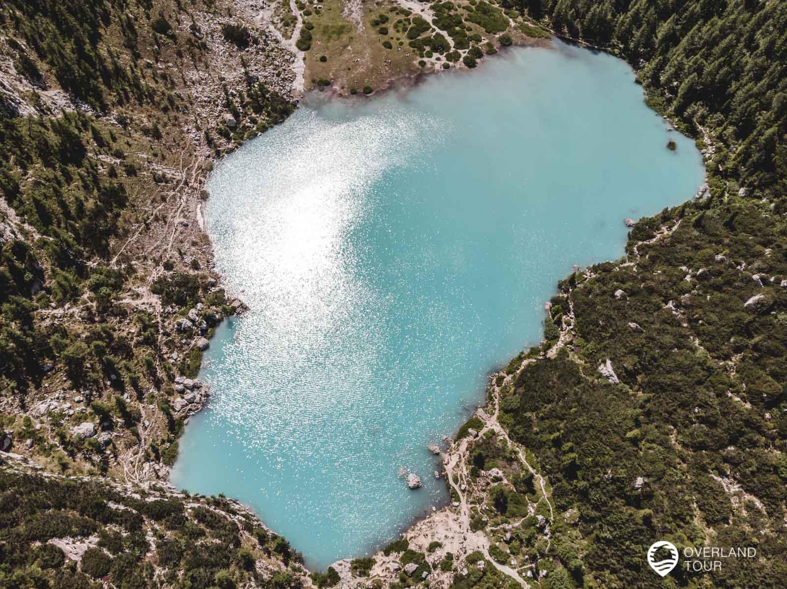 Der Lago Di Sorapiss von oben - Danke Drohne