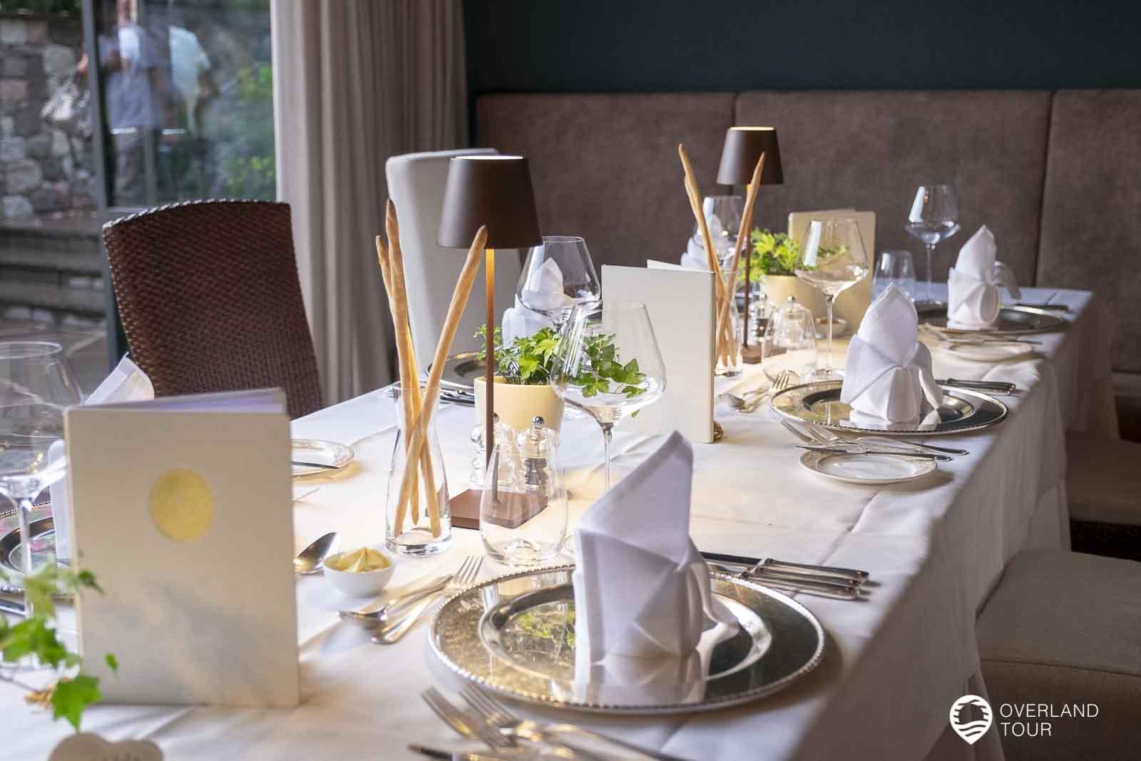 Abendessen im Hotel Ansitz Plantitscherhof