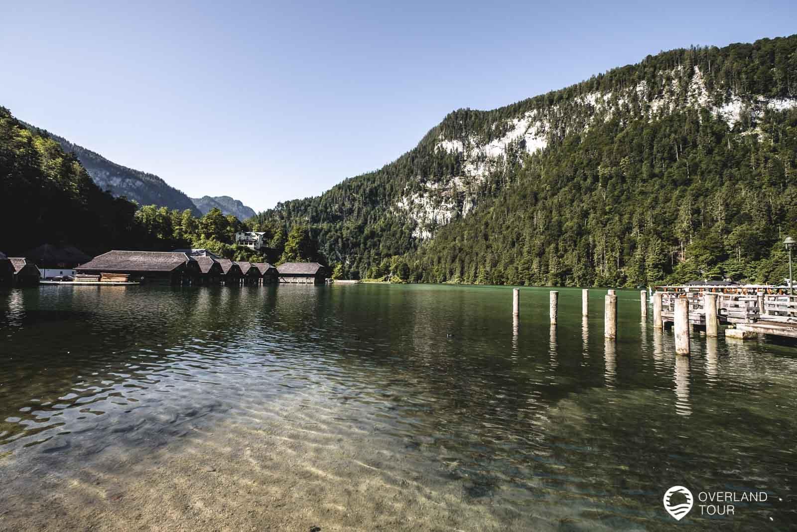 In Schönau bei den Bootsstegen zum Königssee