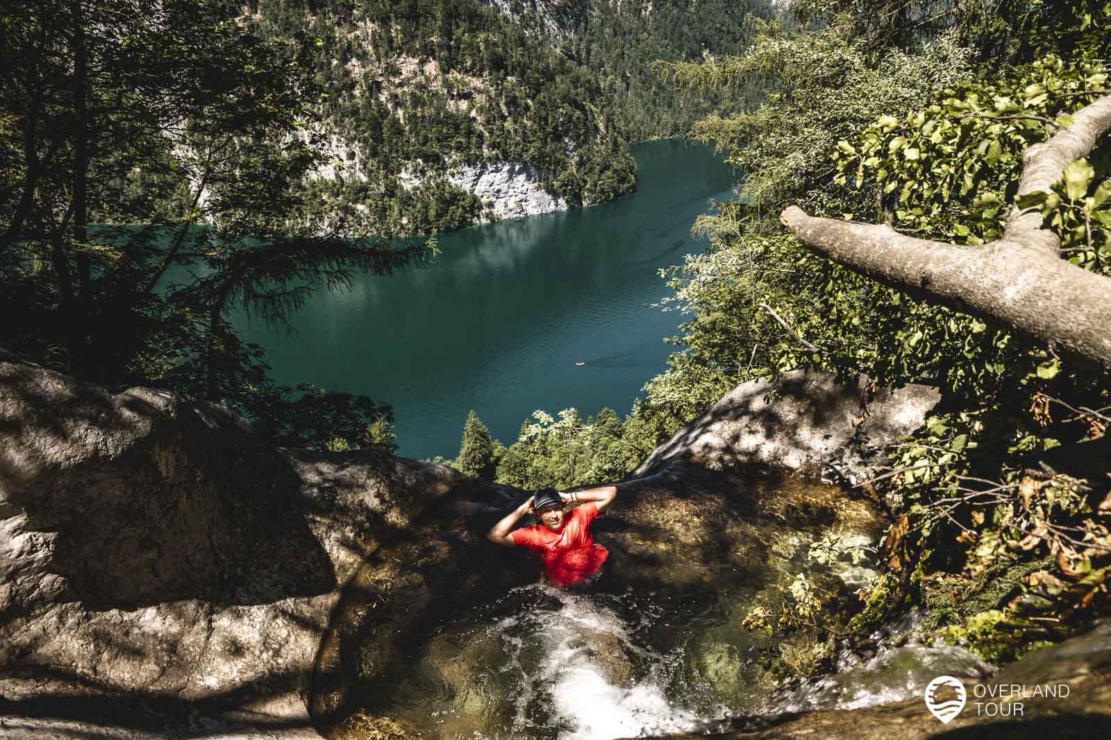 Das Ziel der Wanderung - der Naturpool am Königssee