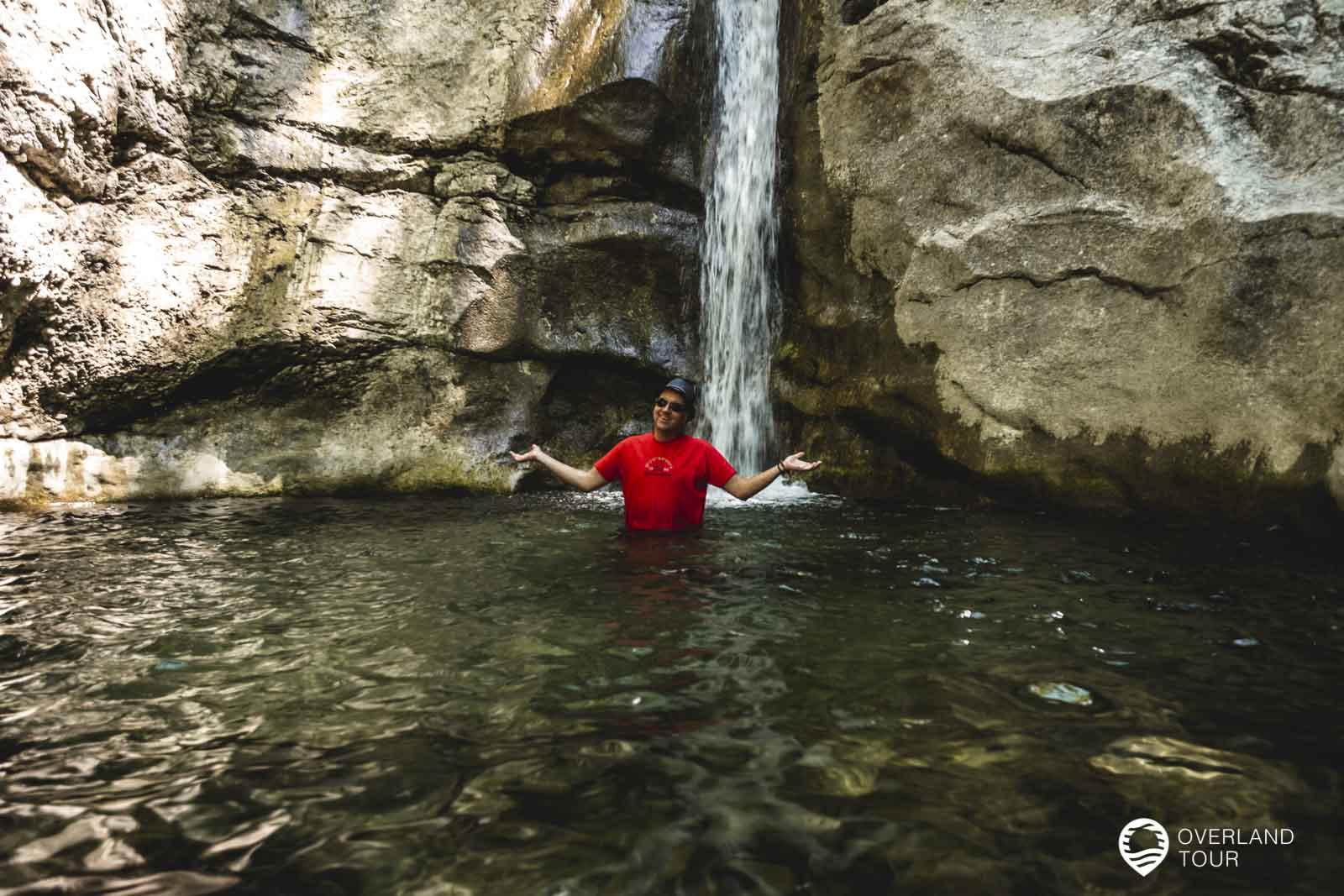 Der Wasserfall etwas oberhalb des Naturpool am Königssee