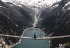 Am Ende der Wanderung zur Olpererhütte wartet das Instgram-Bild auf der Zillertaler Hängebrücke