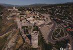 Die Festung Rabati mit der Drohne aufgenommen