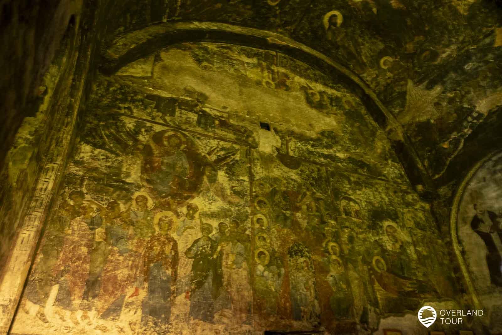 Das Höhlenkloster Wardsia mit seinen Fresken