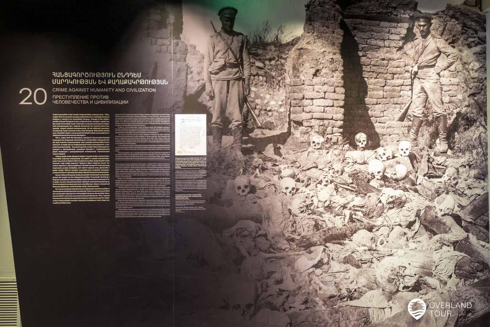 Es gibt viele Bilder aus der Zeit in der Austellung des Genozid Museum in Jerewan