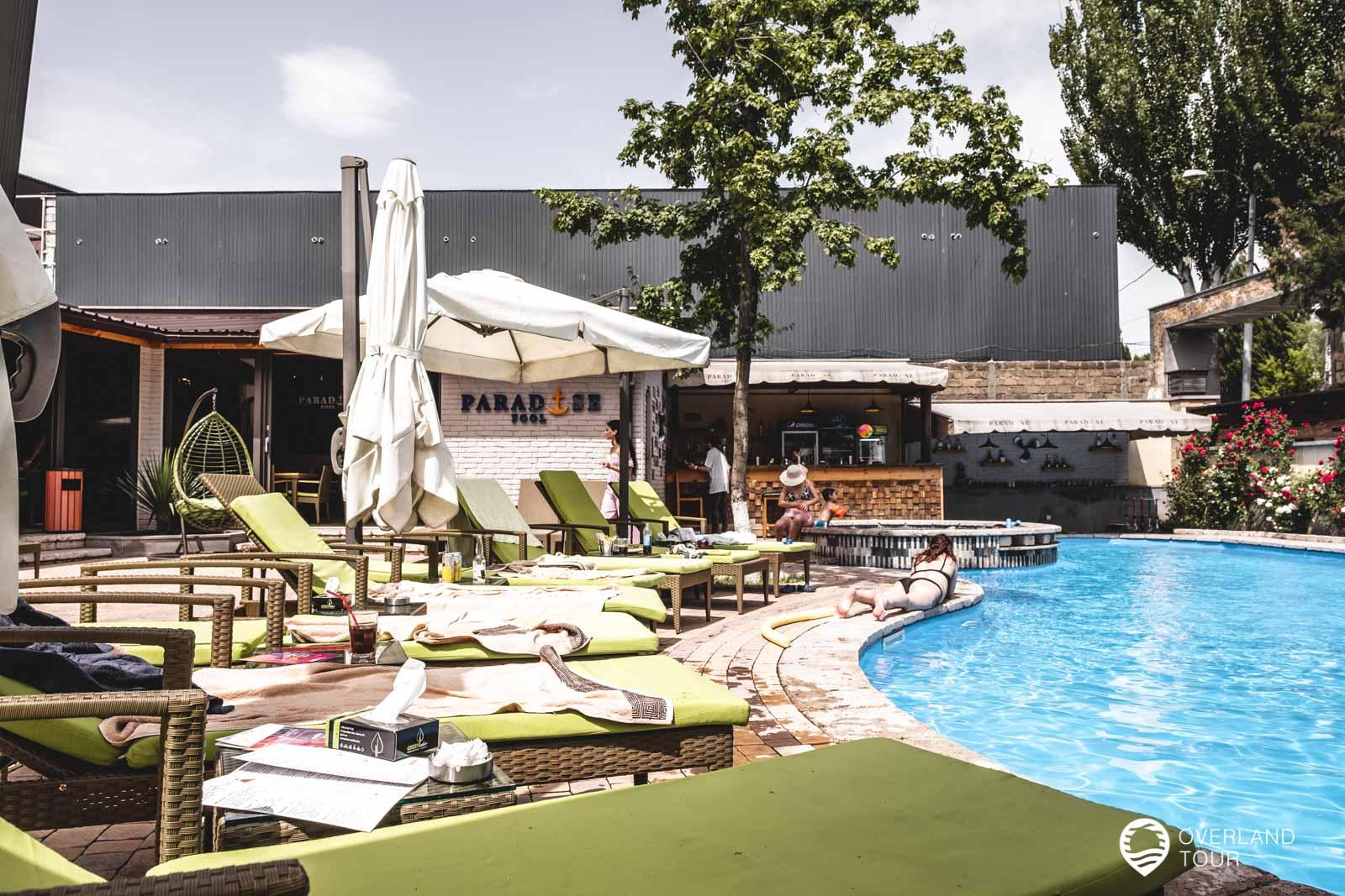 Mein Pool-Tipp in Jerewan: Das Paradies Pool hat zwar einen kleinen Pool aber ein super Ambiente
