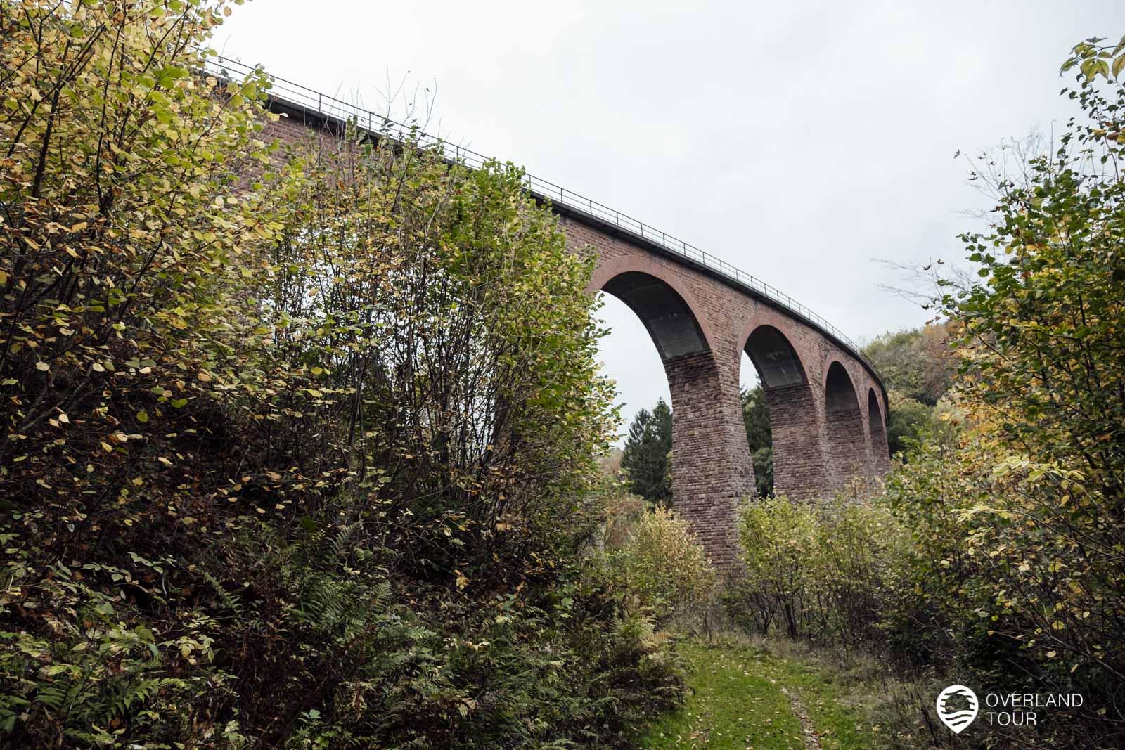Das Hunsrückbahnviadukt mit seiner Länge von 160 Meter und einer Höhe von 42 Metern