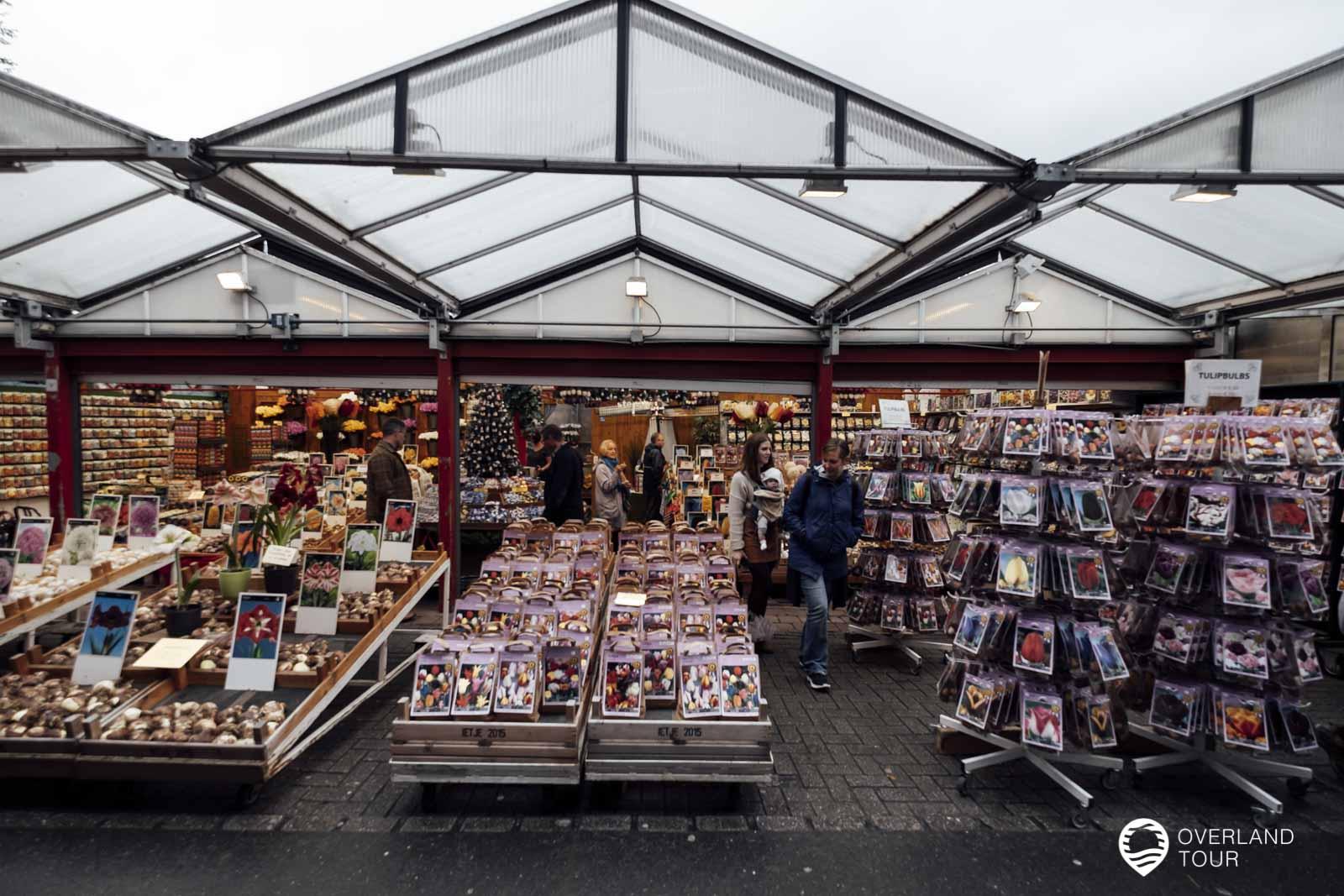 Bloemenmarkt der Blumenmarkt von Amsterdam