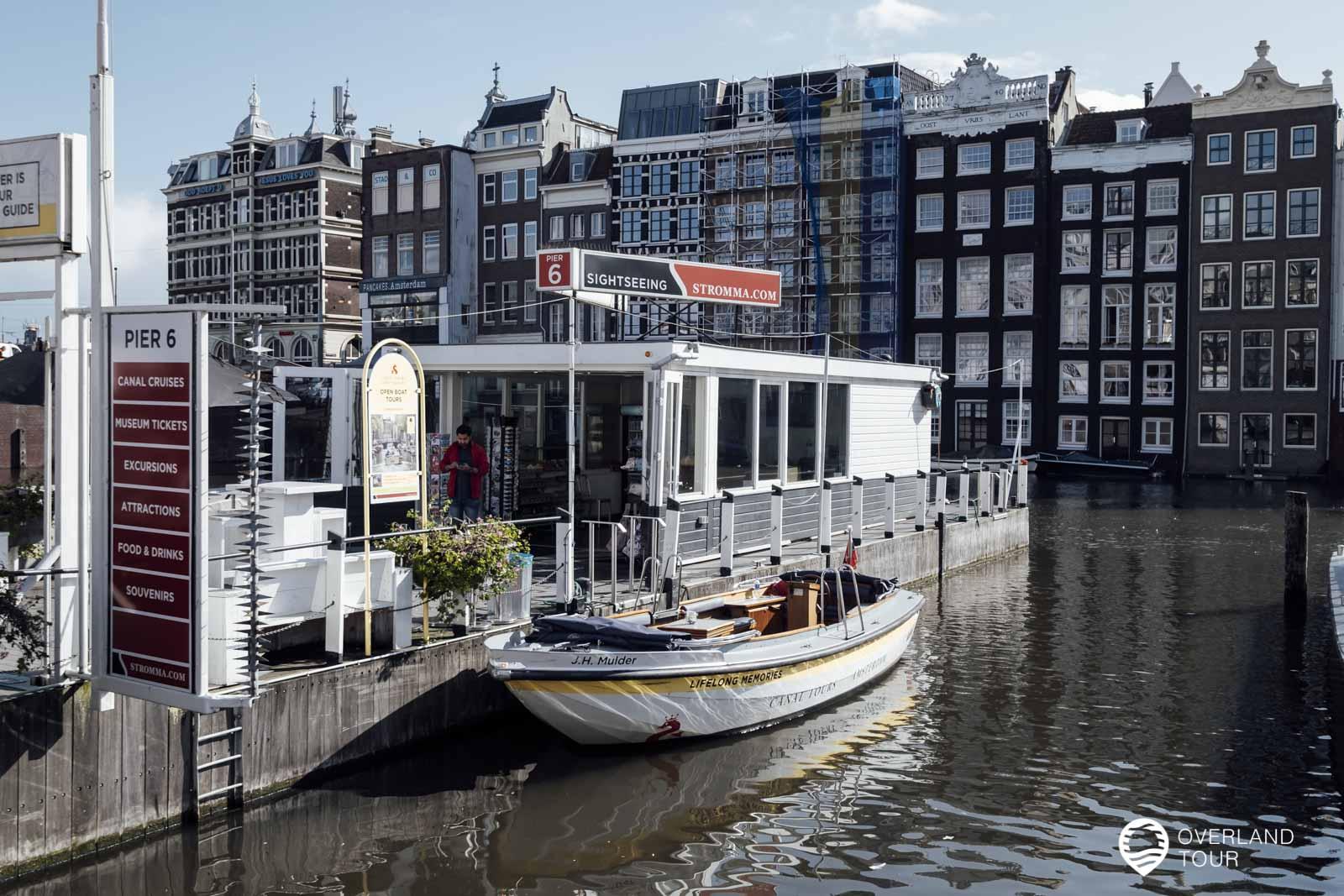 Unsere Schaluppe mit der wir die Grachtenfahrt durch Amsterdam machten