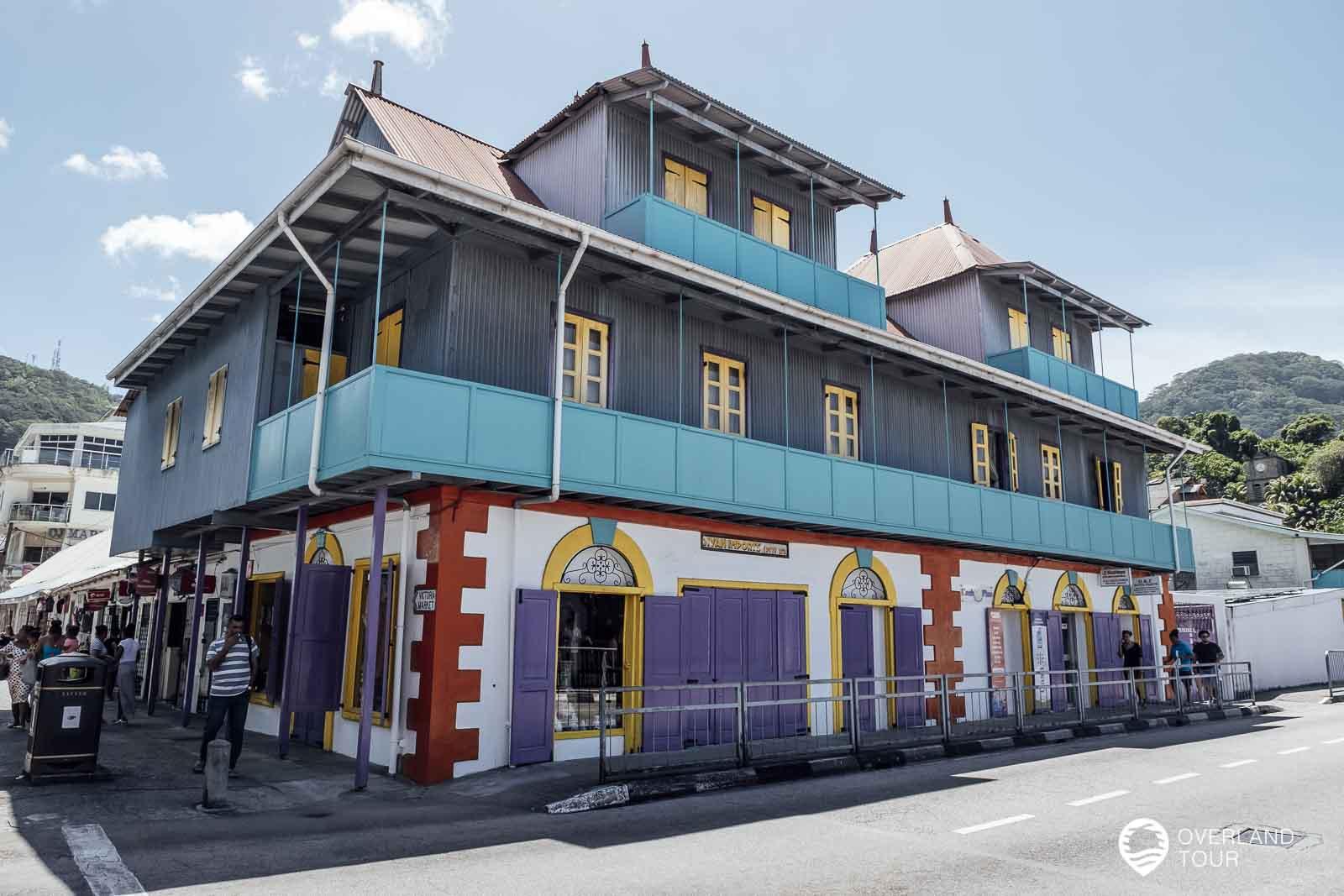 Ein altes untes Handelshaus in der Market Street in Victoria
