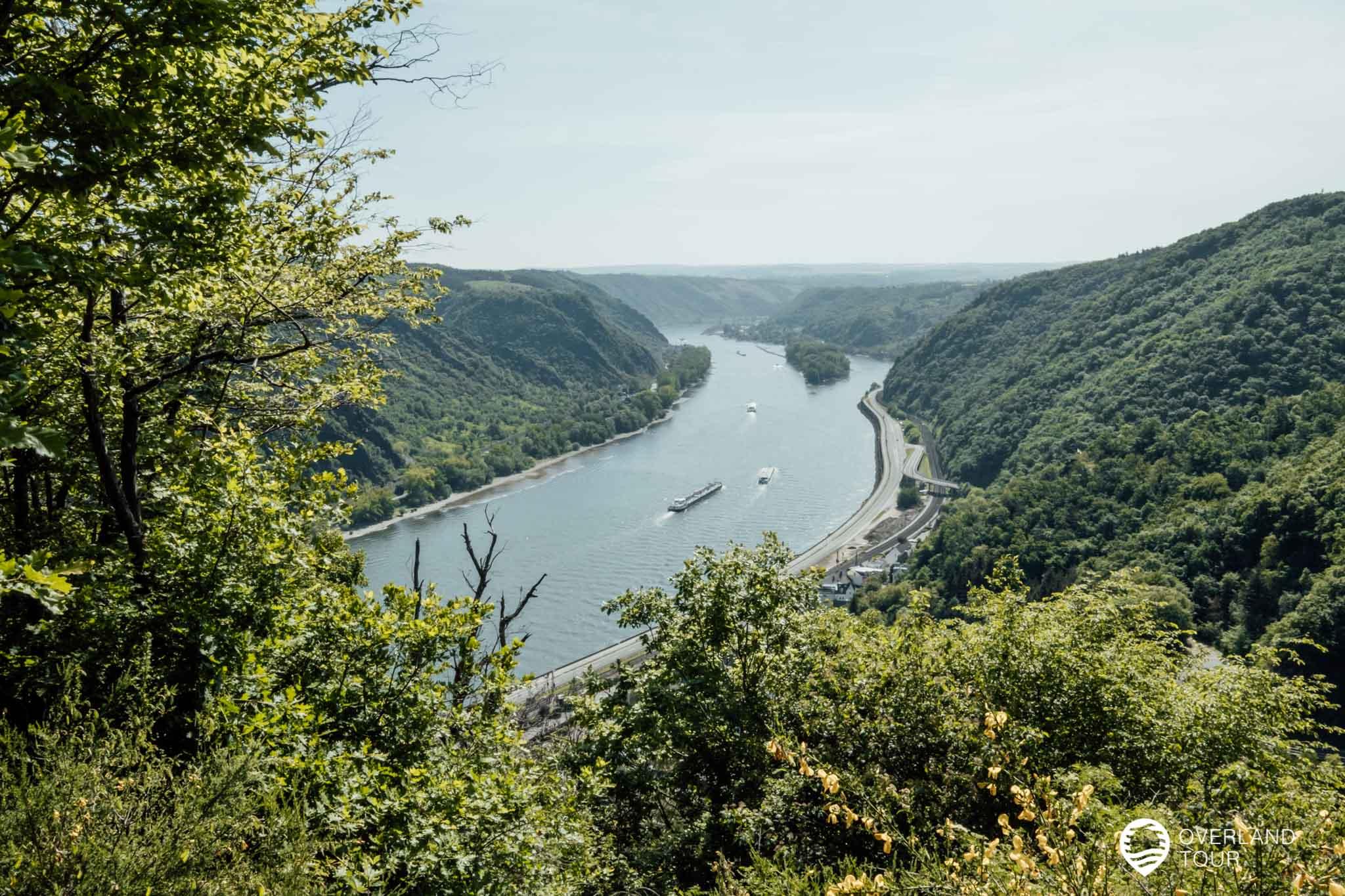 Es gibt über ein Dutzend Aussichtspunkte auf der Traumschleife Rheingold