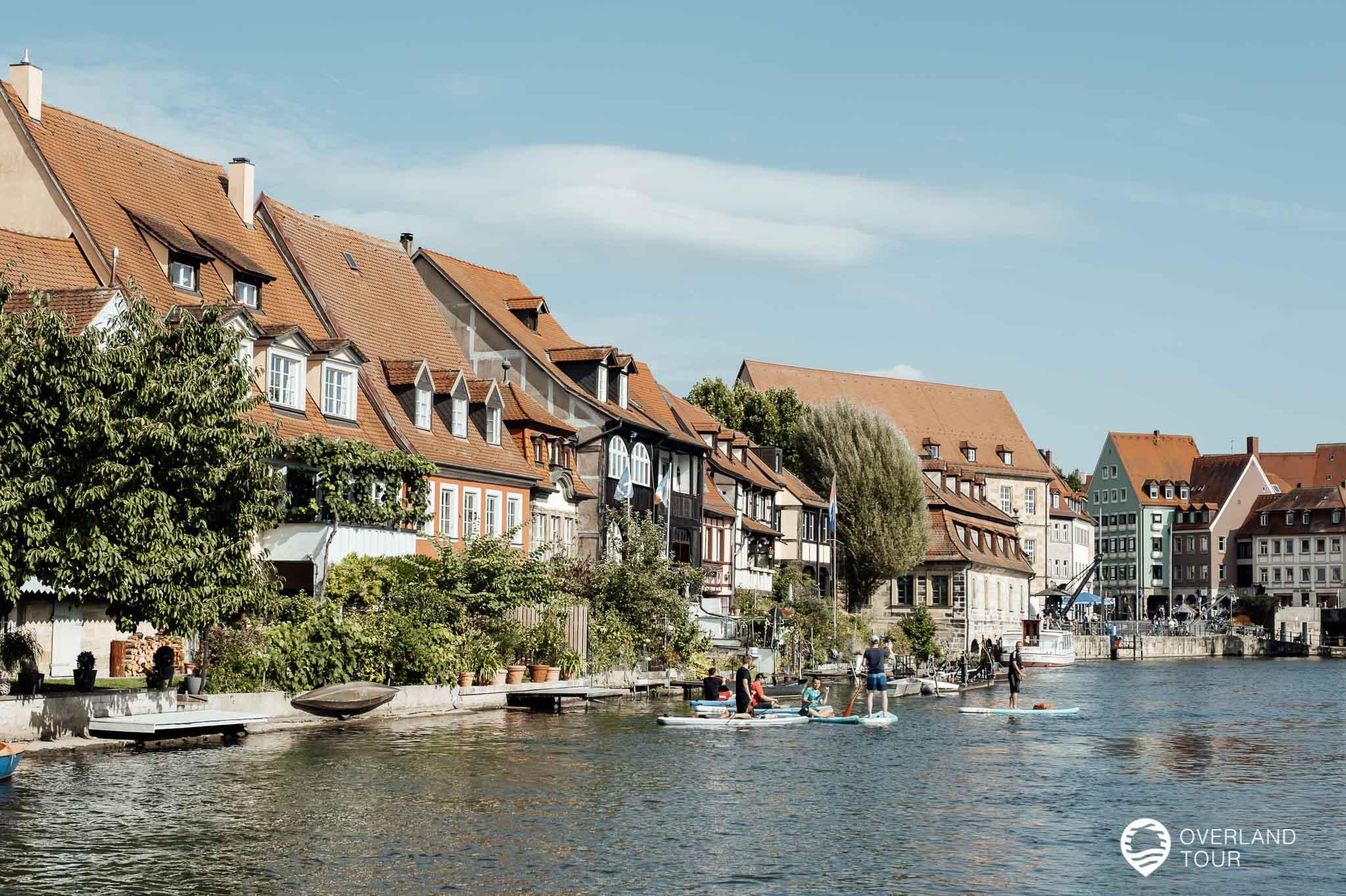 Die schönen Fischerhäuschen von Klein Venedig in Bamberg