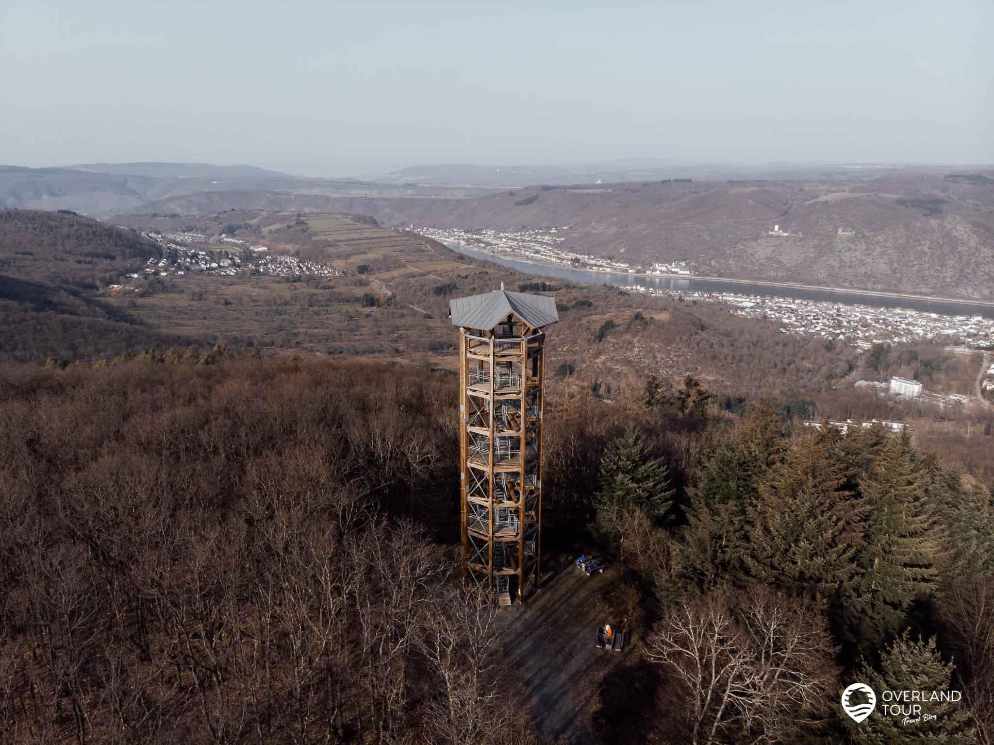 Wanderung Traumschleife Fünfseenblick: Der Aussichtsturm Fünfseenblick - Die Hauptattraktion bei Kilometer 7,7